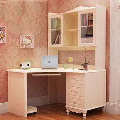 Угловой рабочий стол с подставкой под клавиатуру и стеклянными дверцами с полками купить в интернет-магазине мебели https://lafred.ru/catalog/catalog/detail/39072522175/