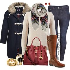 A fashion look from December 2014 featuring H&M jeans, Naturalizer boots and Michael Kors handbags. Browse and shop related looks.