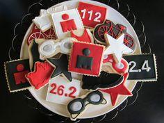 Triathlon Sugar Cookie Collection via Etsy