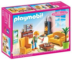 Playmobil- 5308 – Salon avec poêle à bois: C'est l'heure de se détendre et de faire une pause bien méritée dans le salon ! Contient : – Un…