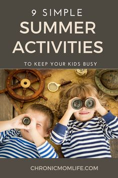 9 Simple Family Summer Activities to Keep Your Kids Busy – Chronic Mom Life Simple & fun kids summer activities … Summer Activities For Kids, Summer Kids, Family Activities, Educational Activities, Toddler Activities, Learning Activities, Summer 2014, Natural Parenting, Kids And Parenting