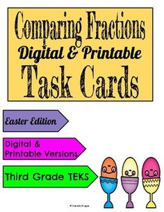 Comparing Fractions: Digital & Printable Task... by The Digital Daydreamer | Teachers Pay Teachers