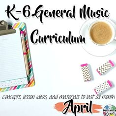 Elementary General Music Curriculum (K-6): April. Organized Chaos. Lesson plans, slides / visuals, worksheets, recordings, and more- everything you need to teach all of your elementary general music classes K-6 for the entire month of April! Lesson activities are organized by the skill or concept taught, with a suggested lesson sequence included as well.