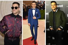 "Rami Malek, on the other hand, is never not cool. Whether its a bomber, a suit, or a Hawaiian shirt, Rami nails the fit, color and visual interest categories with flying colors. Plus, he clearly doesn't take his ""aesthetic"" too seriously, because he's game to throw some funny faces on the red carpet – who doesn't love that kind of confidence? Whether it's a few breath mints or a favorite fragrance, Rami definitely has some tricks up his sleeve to keeping his cool."