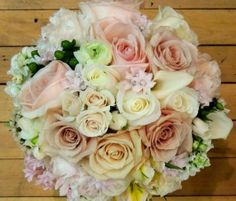 Bouquets with pastel colors
