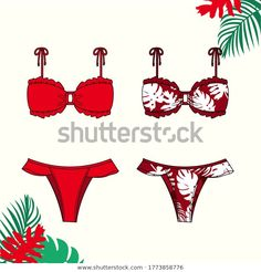 Pin Up, Flat Sketches, Designer Swimwear, Fashion Flats, Designs To Draw, Wallpaper Quotes, Coloring Books, Vectors, Royalty Free Stock Photos