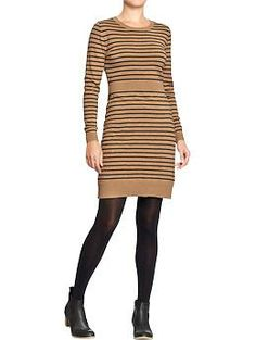 Womens Striped Sweater Dresses