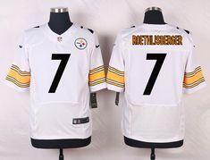 Men s NFL Pittsburgh Steelers  7 Ben Roethlisberger White Elite Jersey ea8c6df73