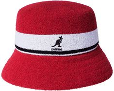 accd1fe4 Kangol Bermuda Stripe Bucket Hat. Red SHats ...