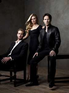 True Blood's Anna Paquin, Stephen Moyer & Alexander Skarsgard. To be in the same room as them!!!