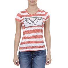 V 1969 Italia Womens T-shirt Short Sleeves Round Neck Multicolor CHARLOTTE