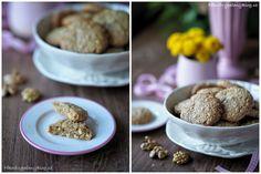 Špaldovo-ovesné sušenky s ořechy Baked Potato, Cooking Tips, Cereal, Baking, Eat, Breakfast, Ethnic Recipes, Food, Christmas