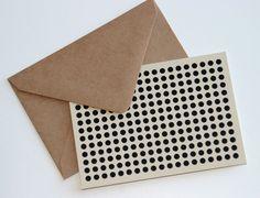 a polka-dot card