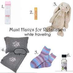 Must haves to help you relax on your next flight.  Great for red eyes and cross country trips.  See more tips- www.GlobalMunchkins.com