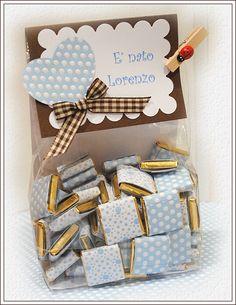 barrinhas de chocolate para lembrança de maternidade ou festas