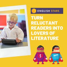 English Stars - Turn reluctant readers into lovers of literature Grammar Humor, Reluctant Readers, Teaching Tips, English Language, Literacy, Literature, Lovers, Hero, Reading