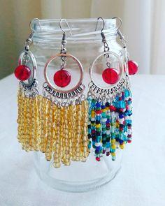Boho style earrings in silver tone /ready to ship/ free shipping by KaterinakiJewelry on Etsy Boho Style, Boho Fashion, Crochet Earrings, Dangles, Free Shipping, Hot, Silver, Etsy, Jewelry