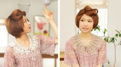 crochet two lacy collars - free patterns - Japanese diagrams.