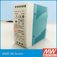 Original Meanwell MDR-40-24 40W 24V mean well Din Rail Switching Power Supply MDR-40 DC OK relay contact UL TUV CB CE approved #Affiliate