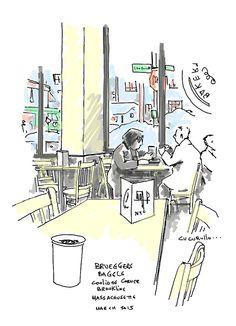 Breakfast at Brueggar's, Coolidge Corner Broookline, Massachusetts