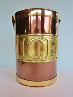 Georges Briard Ice Bucket - Vintage Ice Bucket - Copper Colored. $42.00, via Etsy.