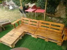 Pallet Chillout Zone Lounges & Garden Sets Sofas Terraces & Patios