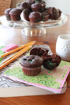 Chocolate Chobani Mint Muffins