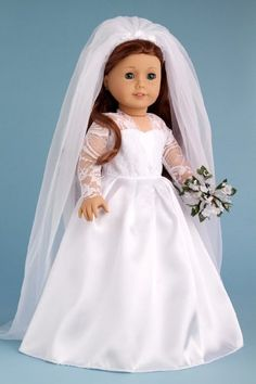 American girl dolls on pinterest 18 inch doll clothes for American girl wedding dress