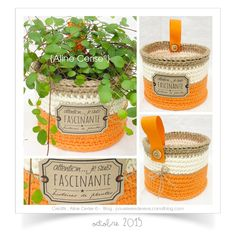 Knitting and crocheting Love Crochet, Diy Crochet, Crochet Basket Tutorial, Sweet Home Design, Crochet Storage, Tapestry Crochet, Easy Gifts, Basket Weaving, Crochet Projects