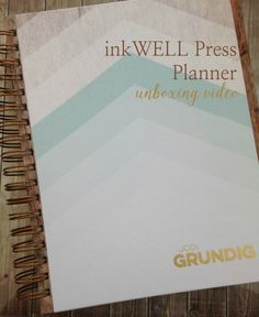 inkWELL Press paper planner unboxing video