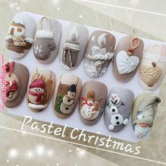 Christmas Nail Designs - My Cool Nail Designs Xmas Nails, 3d Nails, Holiday Nails, Halloween Nails, Christmas Nails, Cute Nails, Pretty Nails, Christmas Decor, Christmas Ideas