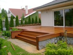 ✩ Check out this list of creative present ideas for coffee drinkers and lovers Modern Landscaping, Outdoor Landscaping, Backyard Patio, Outdoor Gardens, Patio Deck Designs, Patio Design, Porch Stairs, Backyard Buildings, Building A Deck