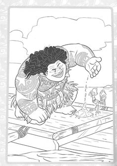 Moana Coloring Pages, Coloring Book Pages, Coloring Sheets, Adult Coloring, Kids Coloring, Disney Paintings, Princess Coloring, Paper Quilling, Art Pages