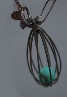 Jamie Jo Fisher custom piece with turquoise sphere