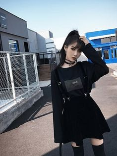 Rags n Rituals 'Goth Doll' velvet dress. - Alternative fashion from RagsnRituals. Gothic outfit, grunge outfit, outfit inspo, alternative style Source by suchahomebody - Grunge Outfits, Edgy Outfits, Mode Outfits, Korean Outfits, Grunge Fashion, Gothic Fashion, Fashion Outfits, Dress Fashion, Hipster Outfits