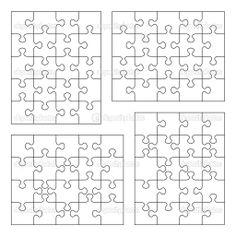 Jigsaw puzzle blank templates — Stock Illustration © ratselmeister #