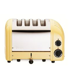 too cute, wany this for my kitchen  Canary Yellow Four-Slice Toaster by Dualit #zulily #zulilyfinds