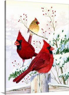 Cardinals in Winter