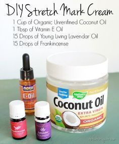 DIY Stretch Mark Cream Recipe Preventing Stretch Marks with Essential Oils and add Grapefruit oil Prevent Stretch Marks, Oil For Stretch Marks, Stretch Mark Cream, Essential Oil Stretch Marks, How To Get Rid Of Stretch Marks, Yl Oils, Doterra Essential Oils, Essential Oil Blends, Essential Oils Pregnancy