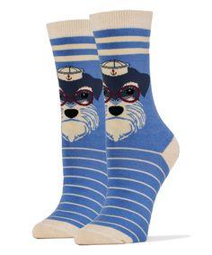 Loving this Blue Sailor Scottie Dog Socks - Women on #zulily! #zulilyfinds
