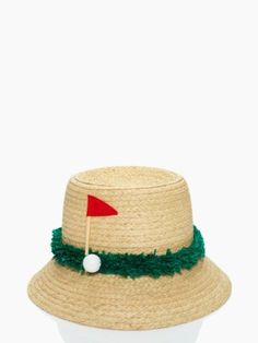 golf hat | Kate Spade. / Think I should wear this to Andrew's next tourney? Yeah...I agree.