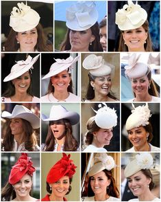 "3,435 Likes, 63 Comments - Catherine Duchess Of Cambridge (@katemidleton) on Instagram: ""Part two of Kate's repeated headpieces: 1: This cream Jane Corbett hat was worn twice in 2012, to…"""