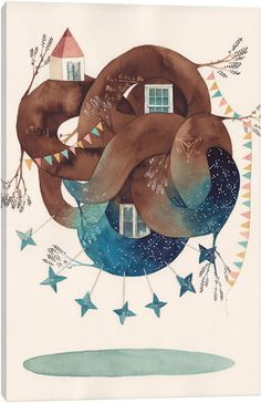 Delta Star by Gemma Capdevila Canvas Art Print