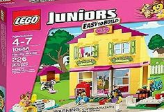 Play out your daily routines in the Family House! The LEGO Juniors Family House includes a kitchen living room bedroom bathroom swimming pool bike 3 minifigures and a dog. Lego Juniors, Lego Building, Building A House, Model Building, Casa Lego, 4 Year Old Girl, Buy Lego, Shop Lego, Thing 1