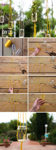 DIY: plant hanger                                                                                                                                                                                 More