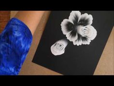 White on Black- Decorative Florals - YouTube