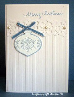 White on White Christmas Cards