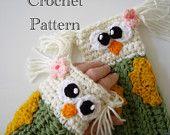Crochet Owl Fingerless Gloves Pattern PDF. $4.99, via Etsy.