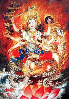 kali = goddess destroyer of ignorance delusions self-focused ego
