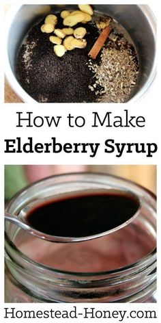 When you feel a cold or flu come on, drink a bit of elderberry-echinacea syrup. … When you feel a cold or flu come on, drink a bit of elderberry-echinacea syrup. Learn how to make elderberry syrup with this easy tutorial. Cough Remedies For Adults, Cold Remedies, Natural Health Remedies, Natural Cures, Natural Healing, Herbal Remedies, Natural Oil, Natural Treatments, Bloating Remedies